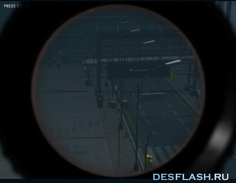 Убивать зомби из снайперки