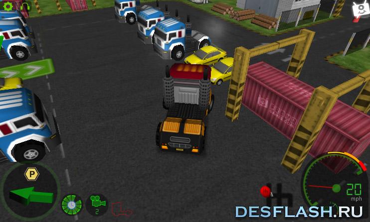 Игра Парковка грузовиков