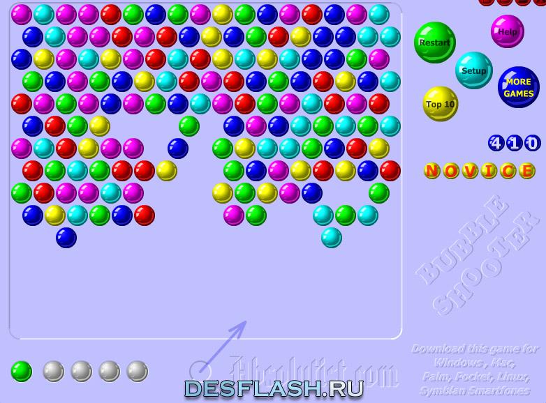Флеш игра шарики онлайн играть бесплатно Bubbles