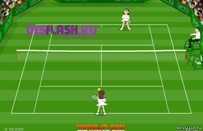 Теннис с девушками играть
