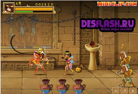 Флеш игра Клеопатра в Египте