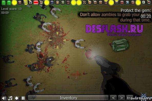 Игра уничтожать зомби онлайн