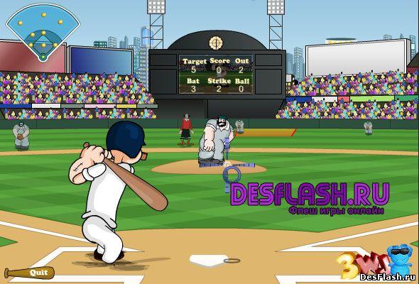 Моряк Папай играет в бейсбол. Popeye Baseball