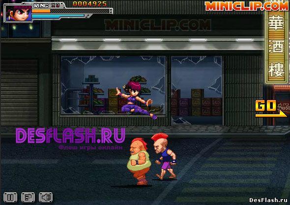 Флеш игра Ниндзя из Гонконга. Hong Kong Ninja