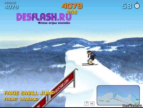 Трюки на лыжах играть