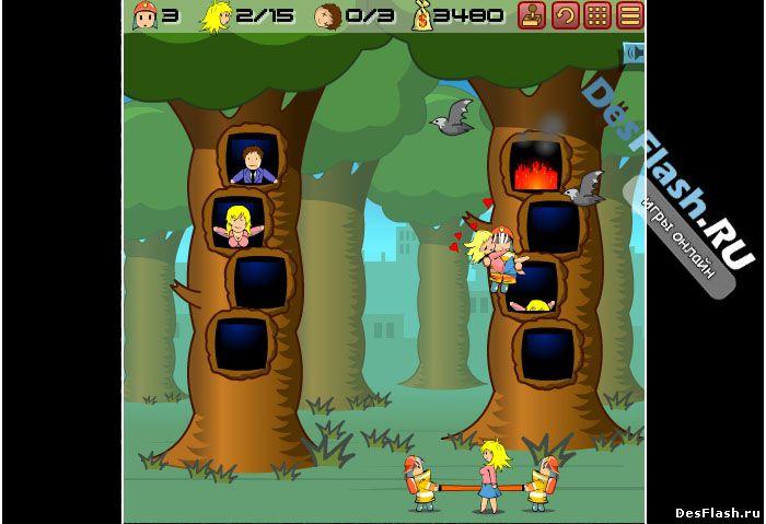 Флеш игра Спасти людей от пожара