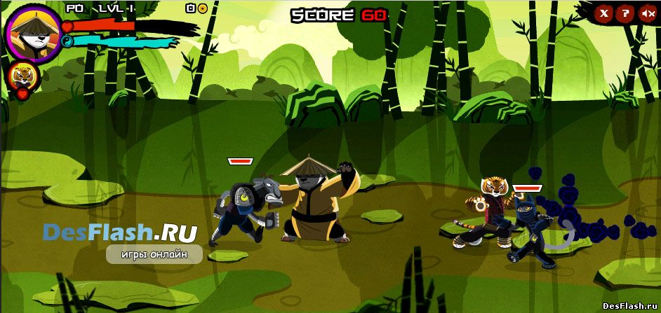 Флеш игра Панда Кунг-Фу. Kung Fu Panda Flash Game