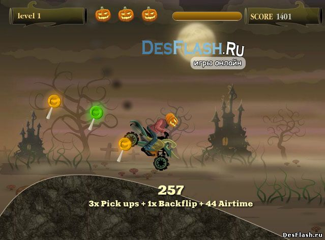 Хэллоуин гонки тыква. Pumpkin Head Rider