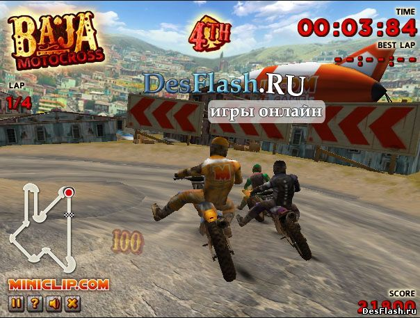 Игры онлайн мотокросс: Baja Motocross