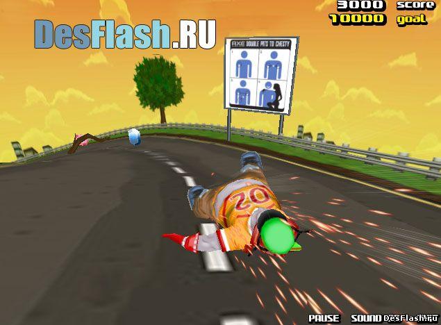 Безумные гонки онлайн: Downhill Madness