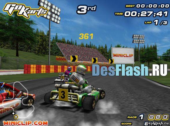 Игры гонки на картингах: Go Karts