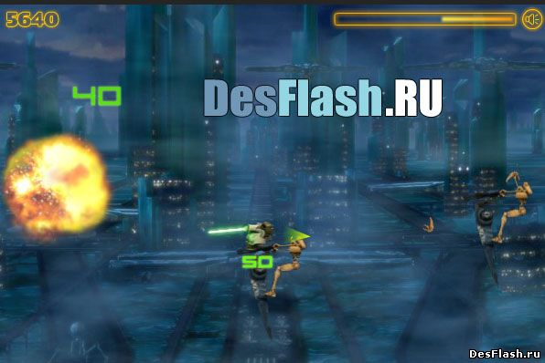Играть в Yoda Battle Slash