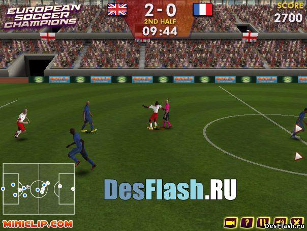 Играть в Европейский футбол. European Soccer