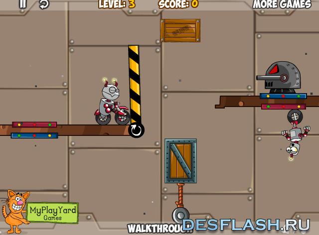Логическая игра с роботами: Go Robots