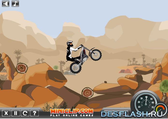 Флеш гонки с препятствиями: Moto Trial Fest