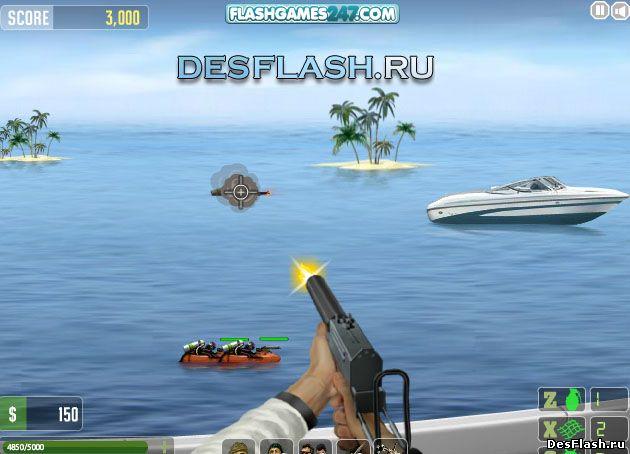 Стрелялка на лодке: Speedboat Shooting