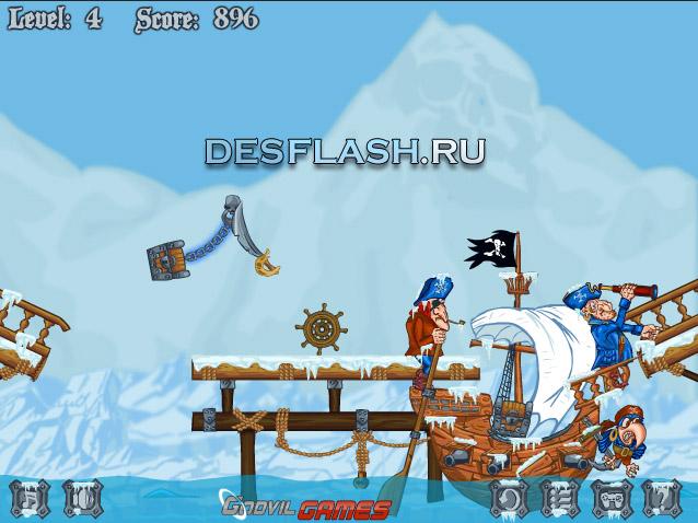 Флеш игра Сокровища пиратов