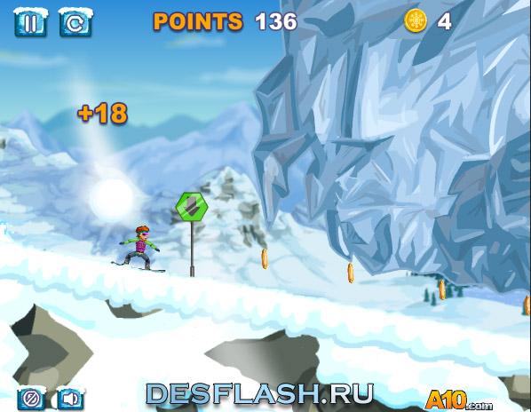 Играть в гонки на сноубордах