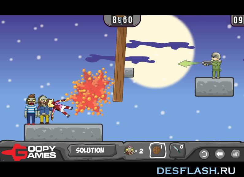 Флеш игра Ликвидировать зомби
