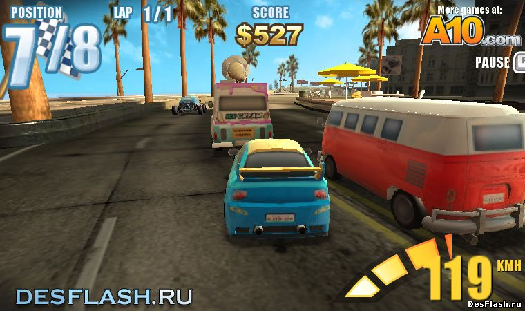 Гонки дрифт онлайн играть: Downtown Drift