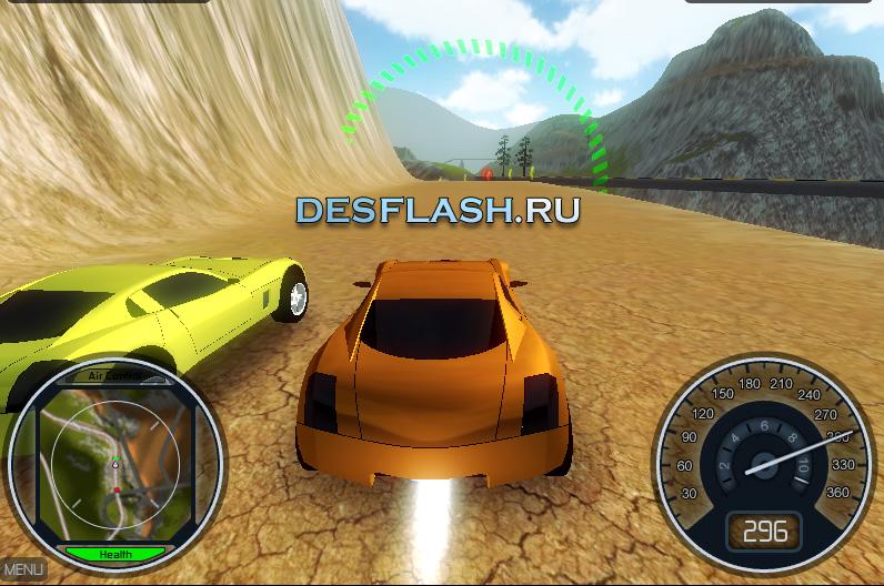 Онлайн игра Сумасшедшие гонки