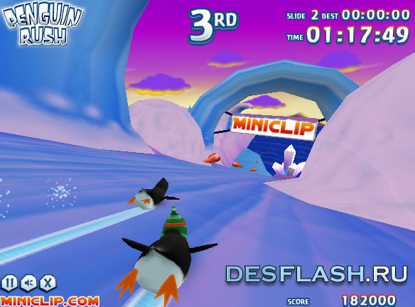 Онлайн игра Гонки пингвинов