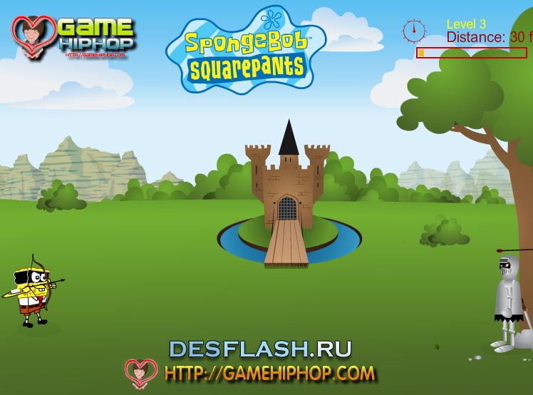Флеш игра Спанч Боб онлайн