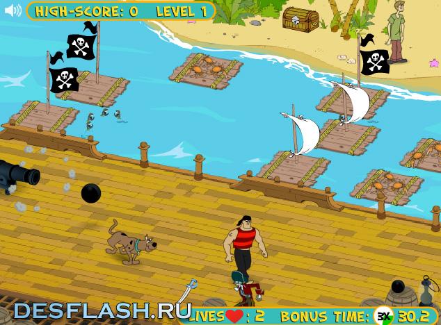 Скуби Ду и пираты онлайн играть