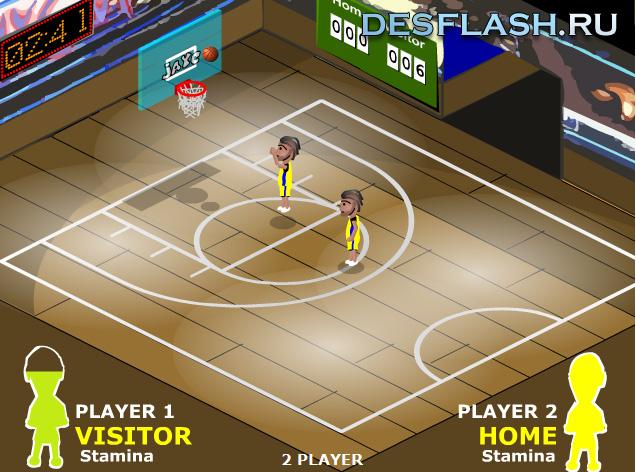 Баскетбол на двоих играть онлайн