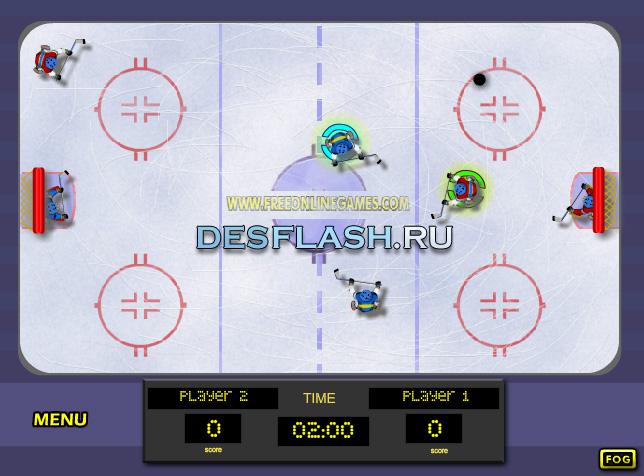 Играть в хоккей на двоих онлайн