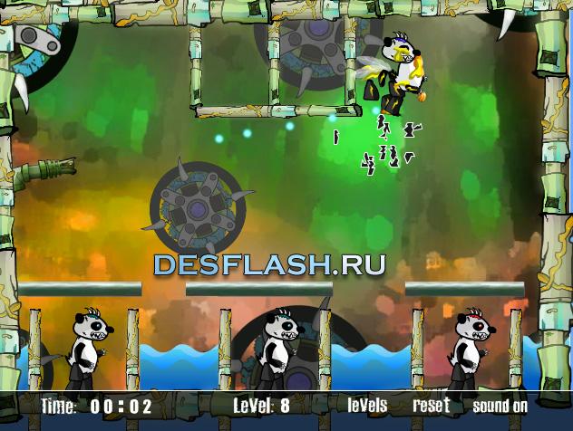 Флеш игра Убить панду