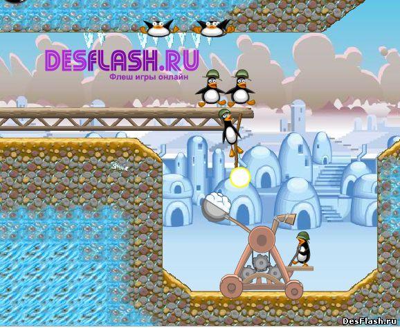 Crazy Penguin Catapult. Сумасшедшая катапульта пингвинов