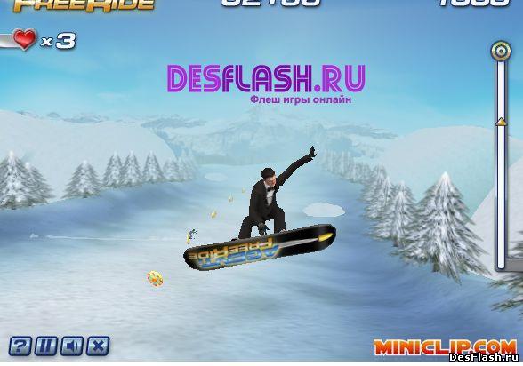 Агент Фрирайд: игры на сноуборде играть