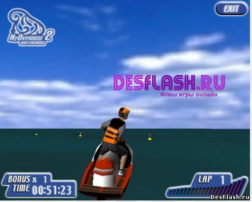 Играть гонки на воде