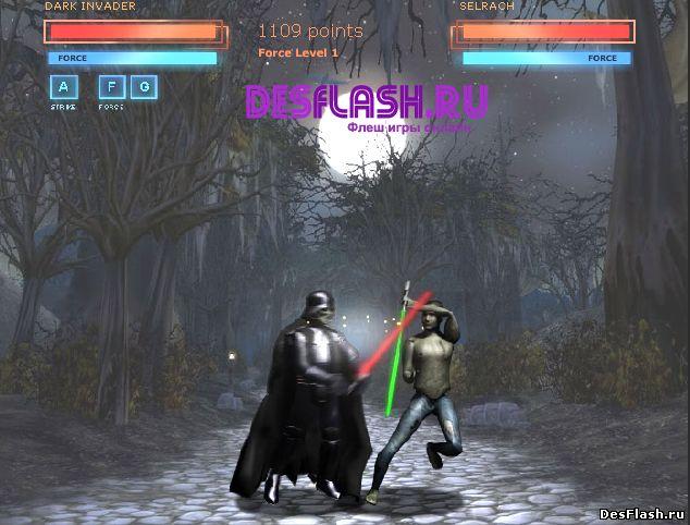 Флеш игра Драка на лазерных мечах