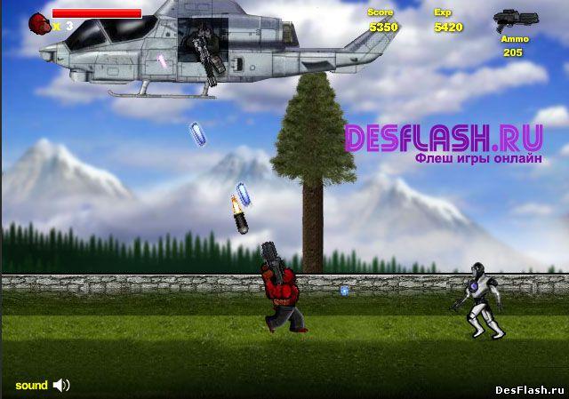 Игра уничтожать вертолеты