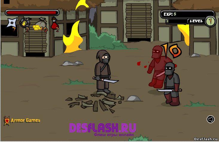 Флеш игра Конфликты ниндзя