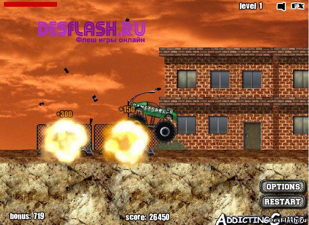 Играть в флеш игру Monster Truck Demolisher