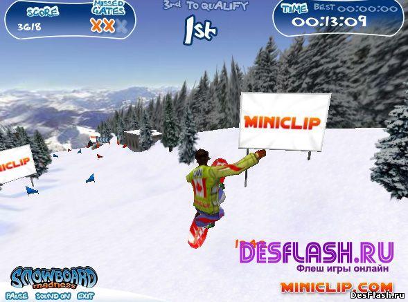Snowboard Madness. Сноубордское безумие